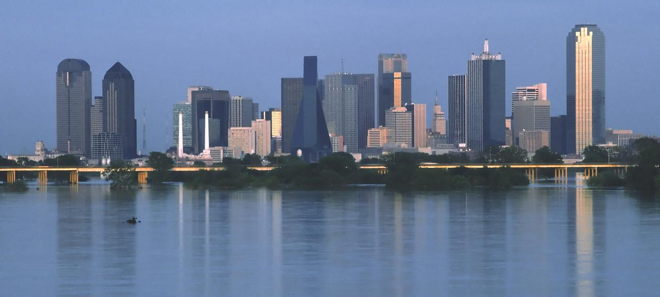 Digital photos of the city skyline in Dallas