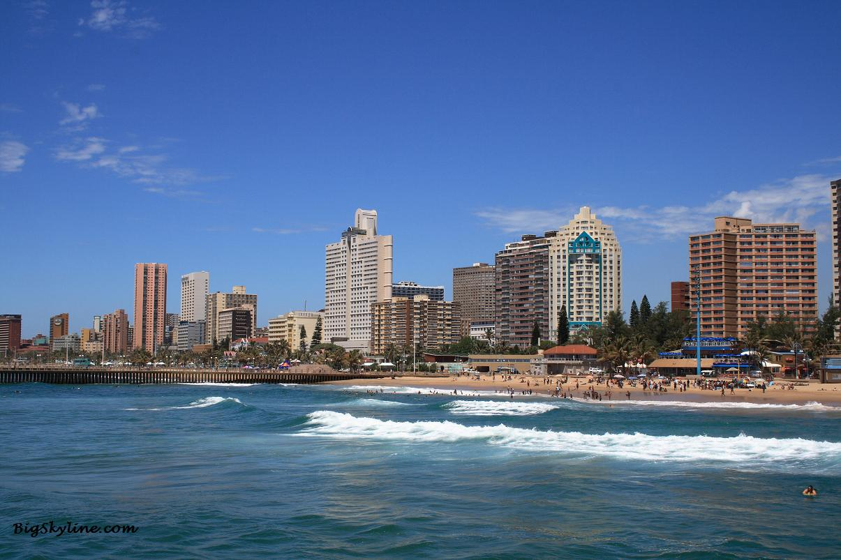 Cityscape in Durban, South Africa