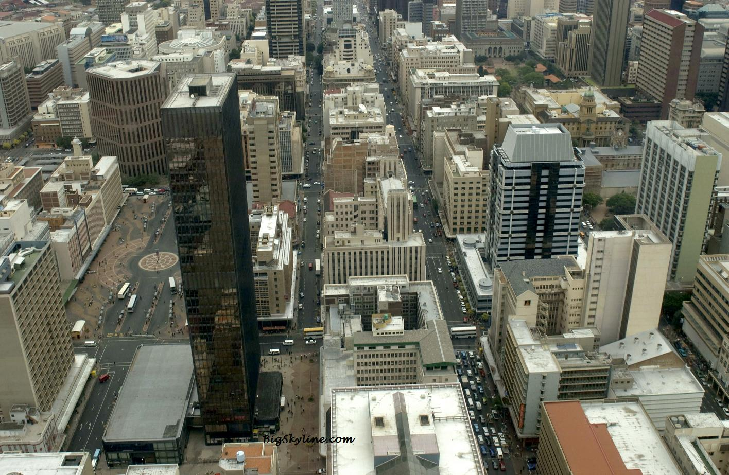 Johannesburg's cityscape in South Africa