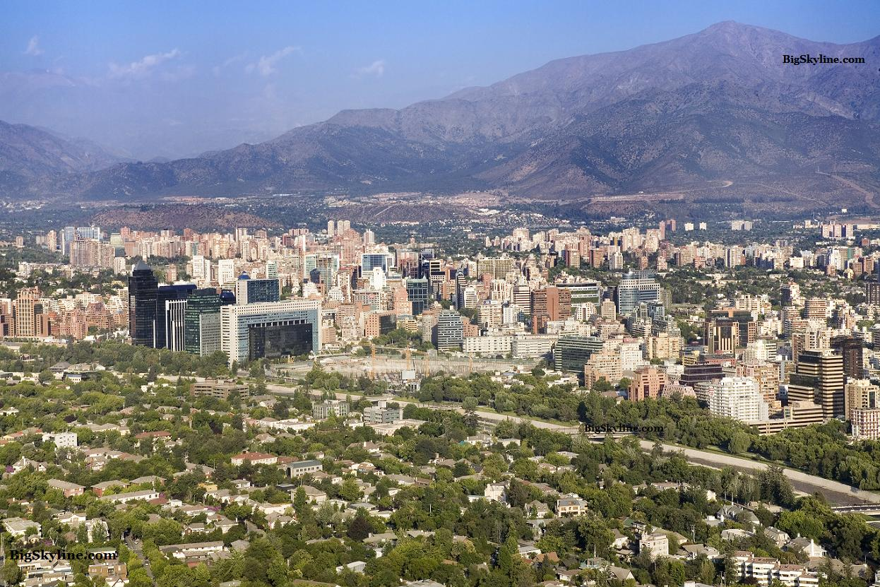 Skyline photo of Santiago Chile
