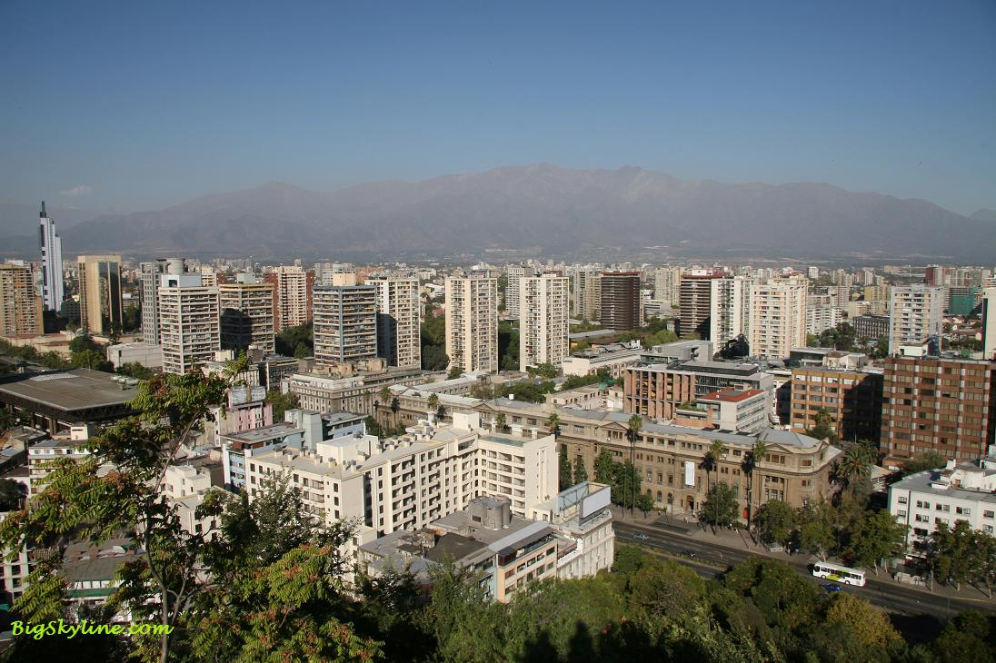City skyline of Santiago, Chile in South America