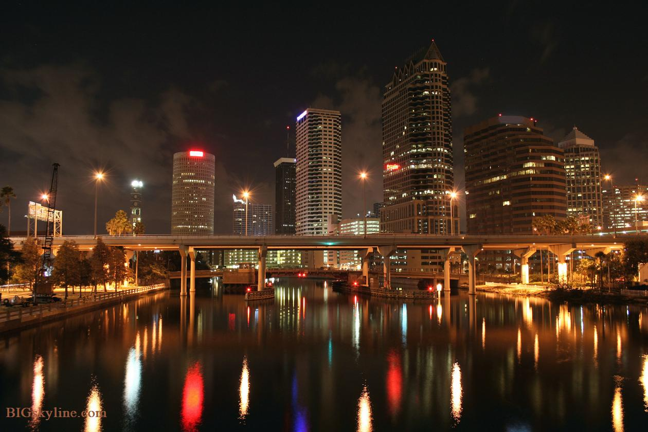 Tampa Skyline at night photograph