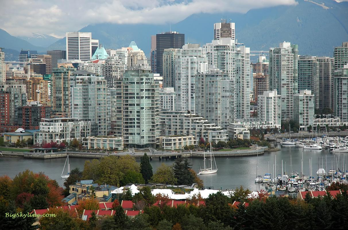 Vancouver's city skyline in Canada