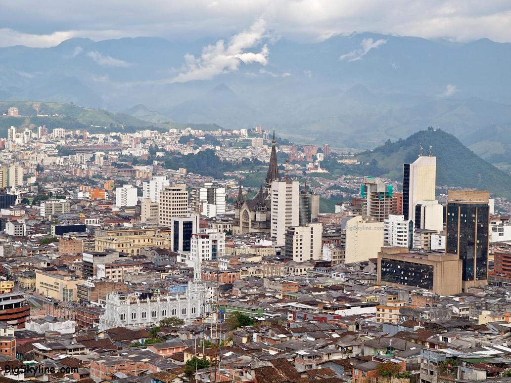 Manizales skyline pic in the country of Colombia