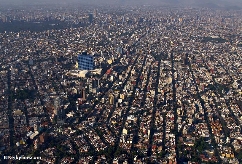 Ariel view of Mexico City